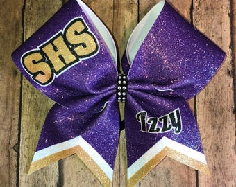 School spirit cheer bow