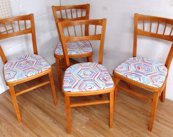 Mid-Century 1950s CentaKitchen Dining  Chairs Beech Refurbished
