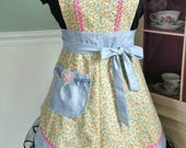 Finer Femininity Little Girl's Apron! Graceful and Sweet! Matching hair clips!