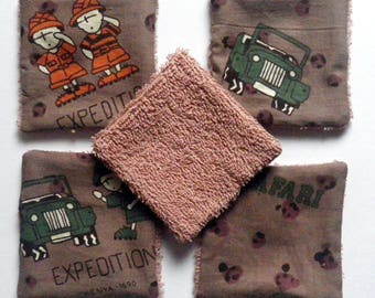 """set of 5 wipes """"shipping to the Kenya"""""""