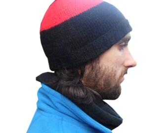 Beanie / gray Hat 100% Alpaca Wool Soft Handmade / warm/ boho/ ethnic/Bolivia