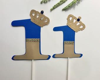 Number centerpieces sticks/number shapes/number table/ number sign/ custom number/ royal number birthday/royal blue number stick