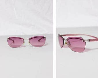 S A L E --- JEAN PAUL GAULTIER women's pink 1990s sunglasses --- S A L E