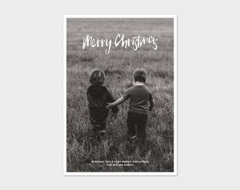 Christmas Card Template - Minimalist Brush Script