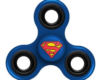 Superman Blue Three Way Diztracto Spinner Officially Licensed Fidget Spinnerz Toy