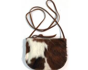 LUNA CROSSBODY Hair-on Large Pattern • Calf Hair Leather Bag