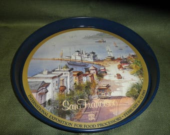 Tin Tray San Francisco from The International Exposition for Food Processors 1985