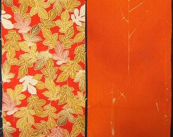 SALE! Vintage kimono silk fabric-2 pcs #7246