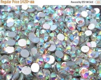 50% OFF Clearance Sale-- Clear AB Glass Flatback Rhinestone -A Grade Ss30 (6mm)No-Hotfix