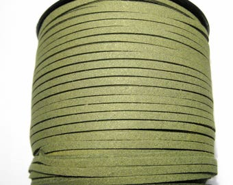 15ft Green Faux Suede Cord 3mm ( No.037)