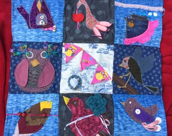 Sensory Blanket- Fidget Quilt- Birds