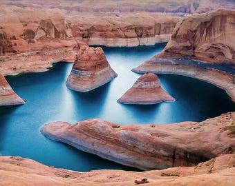 Reflection Canyon cross stitch pattern, cross stitch pattern, lake Powell, Southwest cross stitch, Utah cross stitch