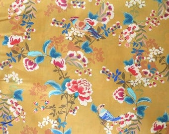 Fabric - Lady McElroy - Mustard floral - 100% cotton lawn - woven fabric