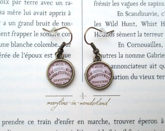 "bronze earrings Cabochon ouija ""spirit is you?"""