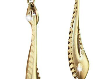 Silver Pewter Diamond Cut Flower Cluster Earrings Handmade  Jewelry