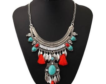 Fashion Long Tassel Necklace Collar Choker Ethnic Vintage Big Bohemian Maxi Statement Necklace For Women Jewelry