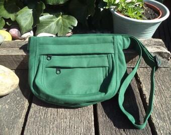 Green canvas fanny pack,belt bag,hip bag