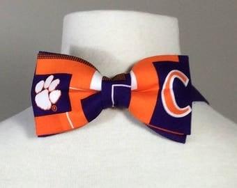 Clemson Paw Print Bow Tie