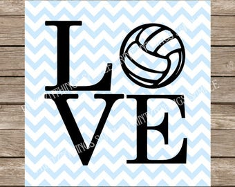 Love svg, Volleyball svg, Sports svg, svg, svg files, svg designs, svg files for cricut, svg silhouette, silhouette cameo, Volleyball girl