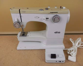 Vintage Elna TSP Type 72C 72 Sewing Machine with Foot Pedal Power Cord