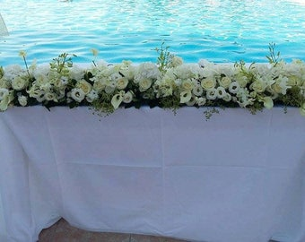 Tablecloth - Cotton Tablecloth - Wedding Tablecloth - Rustic wedding tablecloth - Beige Tablecloth - White Tablecloth- Choose color