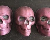 Skull Bath Bomb with Biodegradable Glitter. The Guardian. Essential Oils. Organic Ingredients . Vegan. Made in Utah.