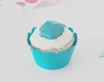 You're Welcome... TURQUOISE Cupcake Wrappers - Set of 24