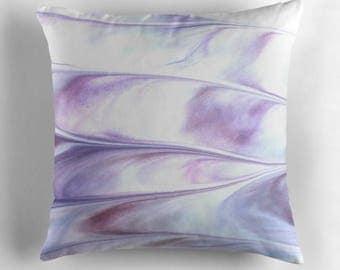 Abstract Pillows, Abstract Pillow Cover, Modern Throw Pillow, Modern Decor, Contemporary Pillow, White Throw Pillow, Purple Pillow