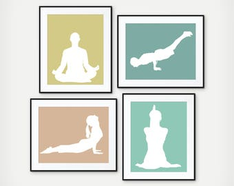 Yoga Print - Yoga Studio Decor - Yoga Art - Yoga Wall Art - Yoga Teacher Gift - Meditation Decor - Spiritual Decor - Yoga Studio Art