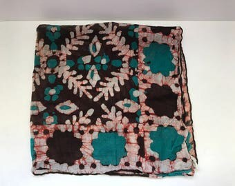 Cotton neck scarf- made in India- vintage floral scarf