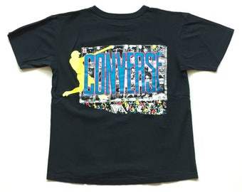80s Converse t shirt vintage chuck taylor shirt Vibrant Neon chuck t's shirt size M Medium 100% Cotton