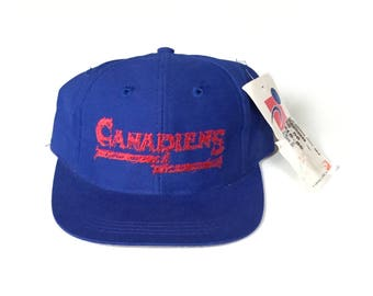 Montrea canadiens NHL hockey Snapback Snap back Strapback hat One Size childrens kids youth new with tags deadstock NOS  Unisex twill