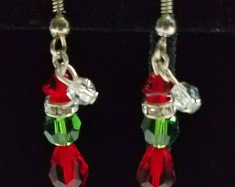 Swarovski Grinch Earrings