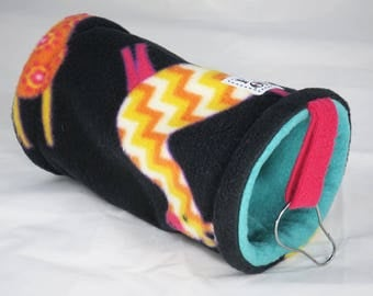 Small pet tunnel or hammock for guinea pigs, sugar gliders or rats - llama print - READY TO SHIP