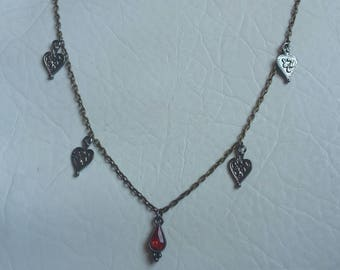 Vampire necklace/ blood necklace