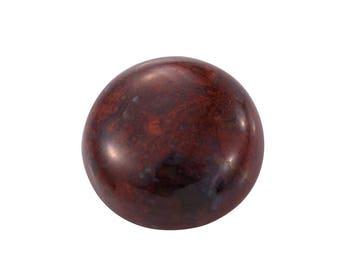 Red Lightning Jasper Round Cabochon Loose Gemstone 1A Quality 13mm TGW 6.70 Cts.