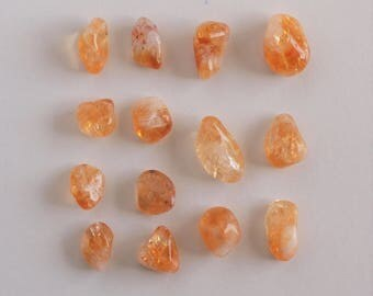 Brazilian Citrine Tumbled Gemstone - Tumbled Stone - Polished Stone, 14 pieces