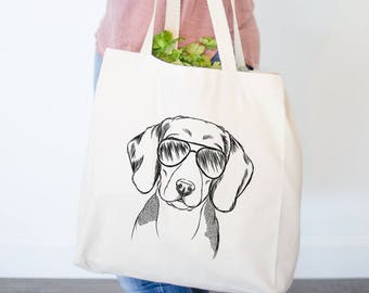 Jake the Beagle - Canvas Tote Bag - Gifts For Dog Owner, Beagle Tote Bag, Dog Lover Bag, Beagle Gift, Beagle Bag, Cool Dog Bag