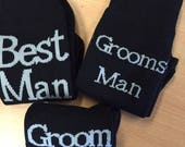 Men's Bridal Socks with Woven Text - Many texts available
