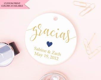 Gracias tags (30) - Wedding thank you tags - Wedding tags - Wedding gift tags - Wedding favor tags
