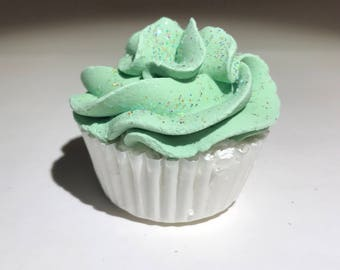 Peppermint Mini Cupcake Bath Bomb