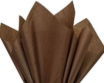 Espresso (dark brown) Tissue Paper 24 Sheets Premium Tissue Paper for Craft Projects, Gift Wrapping, and DIY