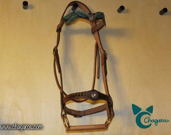 "Flange ""Amazon"" bridle show leather"