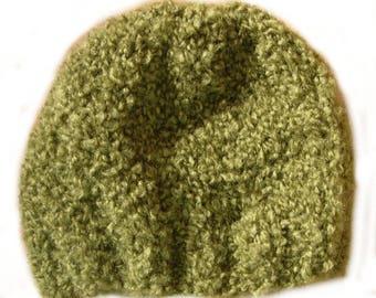 Khaki short yarn Beanie plush
