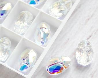 1 pcs Scarab Bead Swarovski Crystal AB 5728 12mm Beads