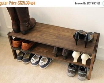 Stunning Solid Wood Shoe Rack Entryway Shoe Rack Closet Shoe Rack