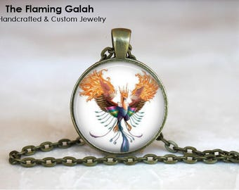 FLYING PHOENIX Pendant • Fire Bird • Rise From The Ashes • Reborn • New Start • Rising Phoenix • Gift Under 20 • Made in Australia (P1535)