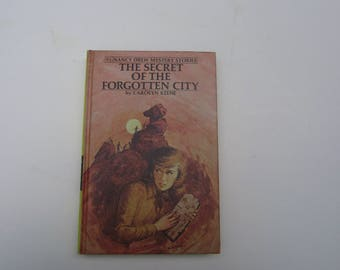 Nancy Drew The Secret of the Forgotten City, Nancy Drew vintage book 1970s, Nancy Drew book Forgotten City, 1980s Nancy Drew #52