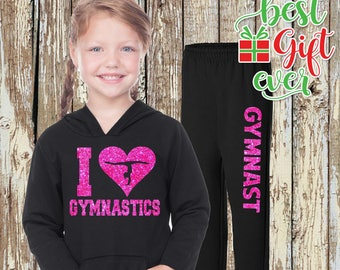 Gymnast Sweat Set I HEART GYMNASTICS