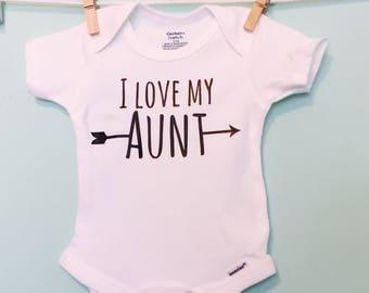 I love my Aunt, arrow onesie